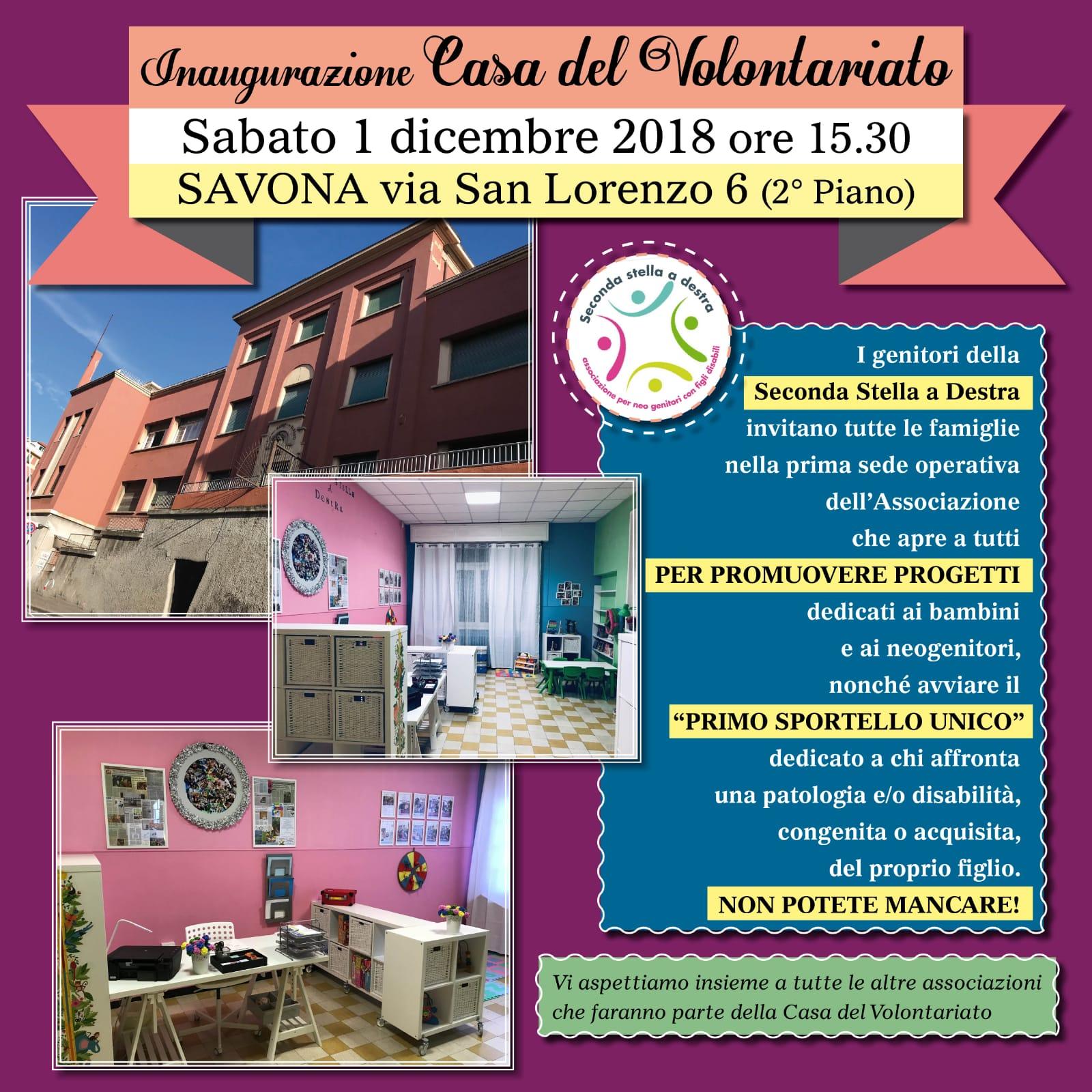 Finalmente anche Savona inaugura la Casa del Volontariato delle Associazioni